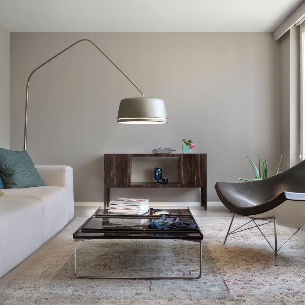 Central Floor - perlgrau - im Wohnzimmer