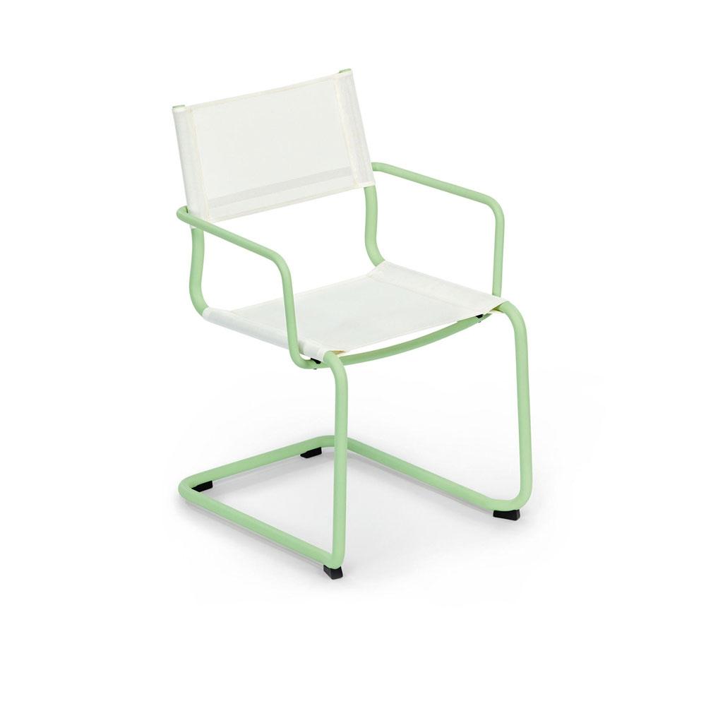 Sosta - Gestell pastellgrün/ Bespannung weiß
