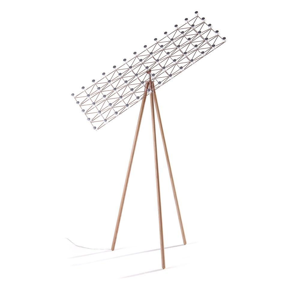 Space-Frame Floor Lamp - kupfer