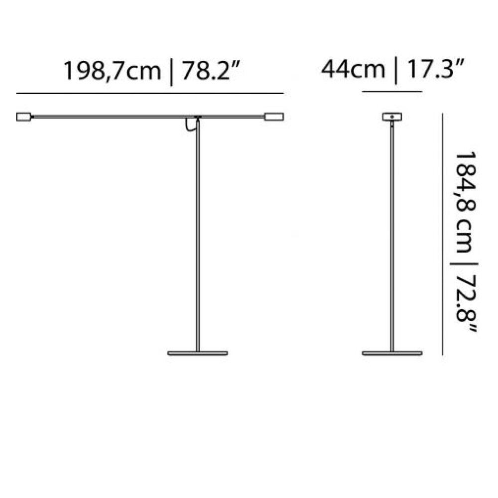 T Lamp - Maße
