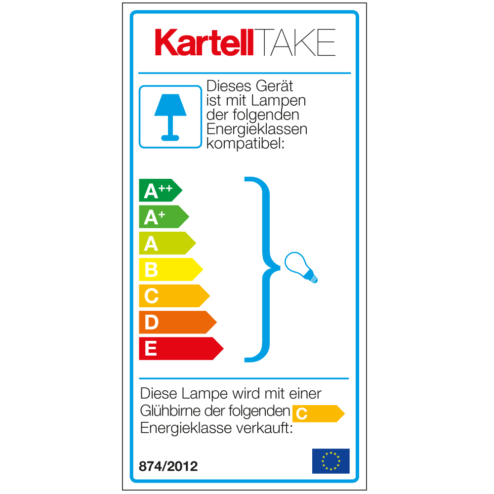 Tischleuchte Take - EU Label Energieklasse