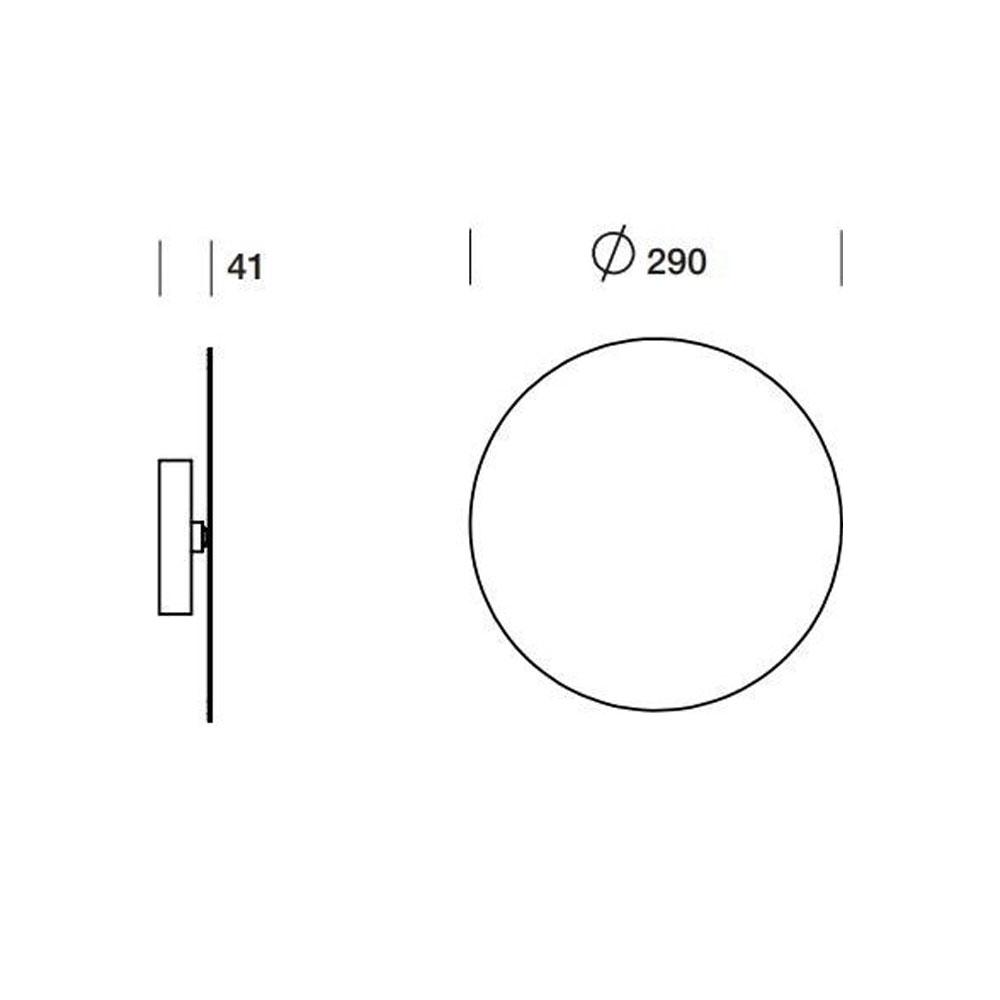 TossB Wandleuchte Tilt Round - Abmessungen