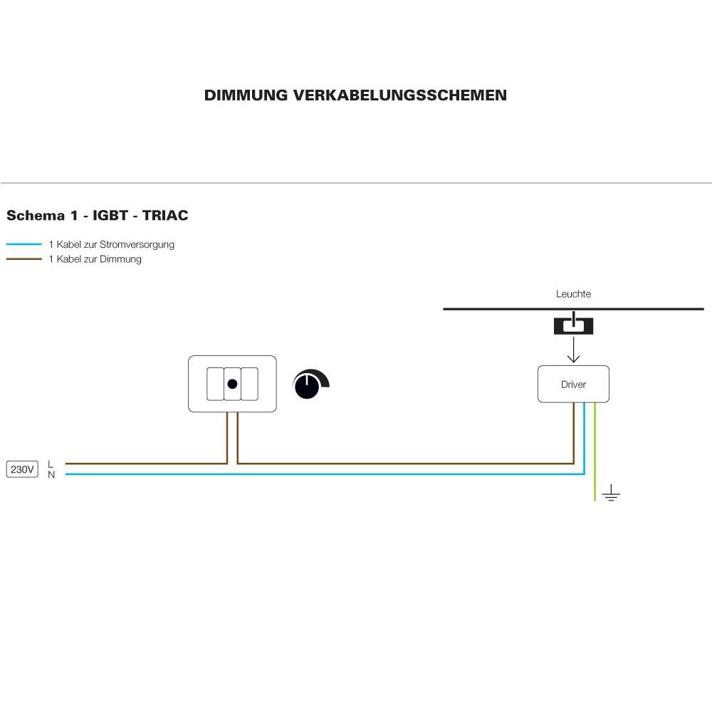 TRIAC - Dimmung Verkabelungsschema