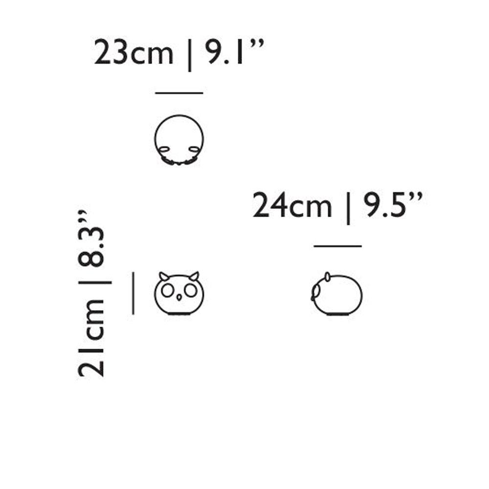Tischleuchte Uhuh - Abmessungen