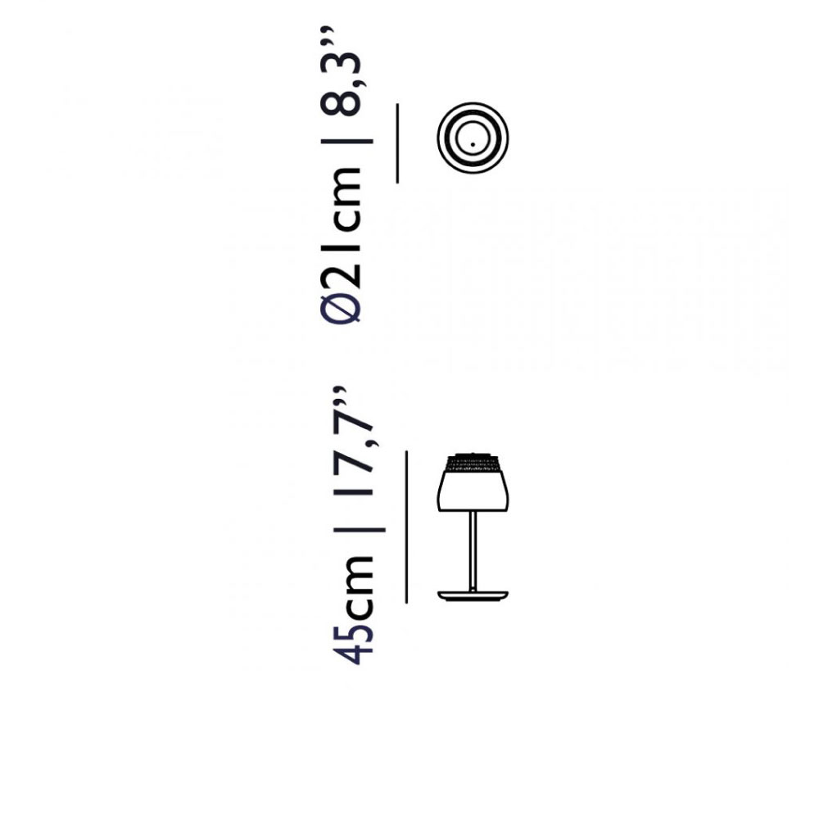 Valentine Table Lamp - Maße