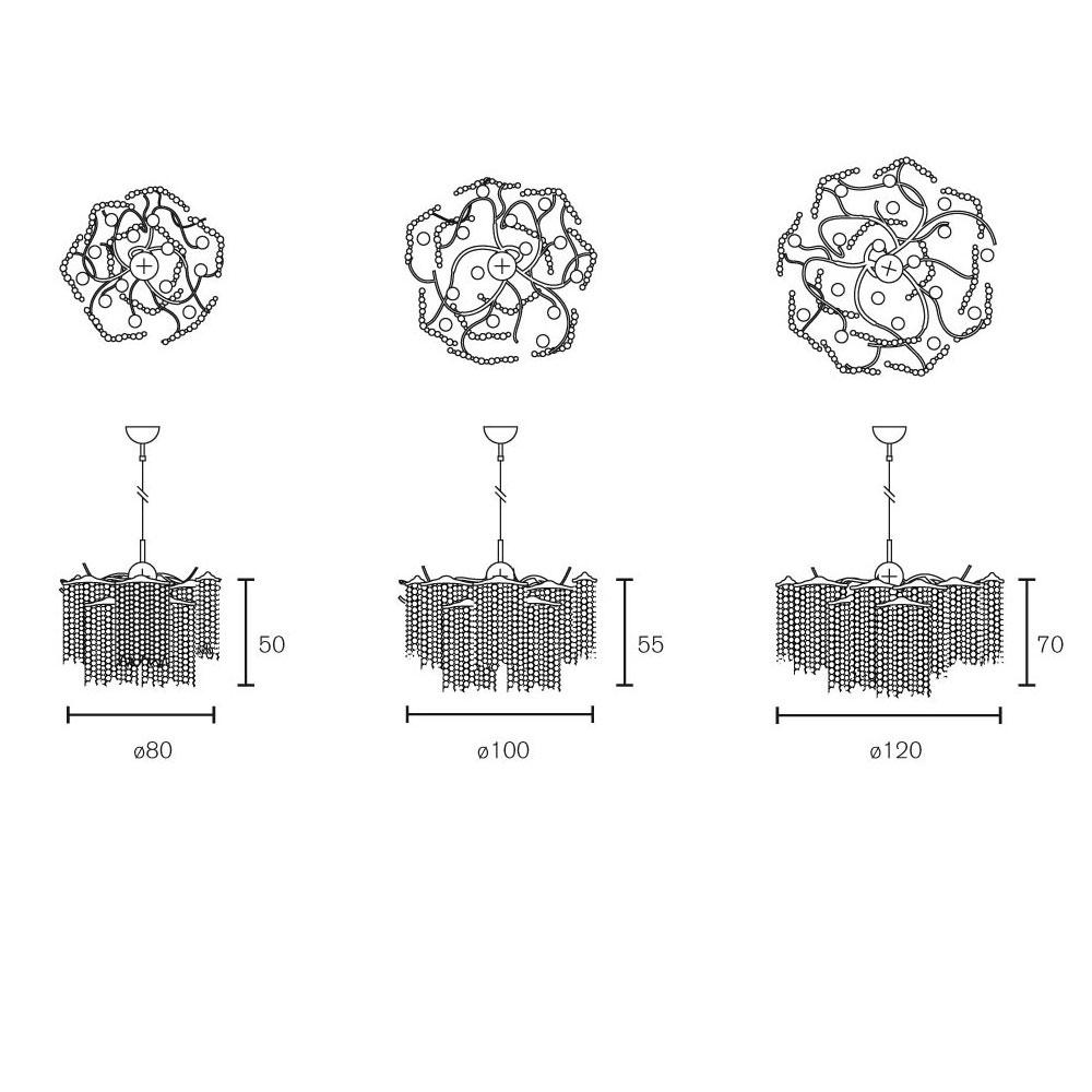 Victoria Chandelier Round - Maße in cm