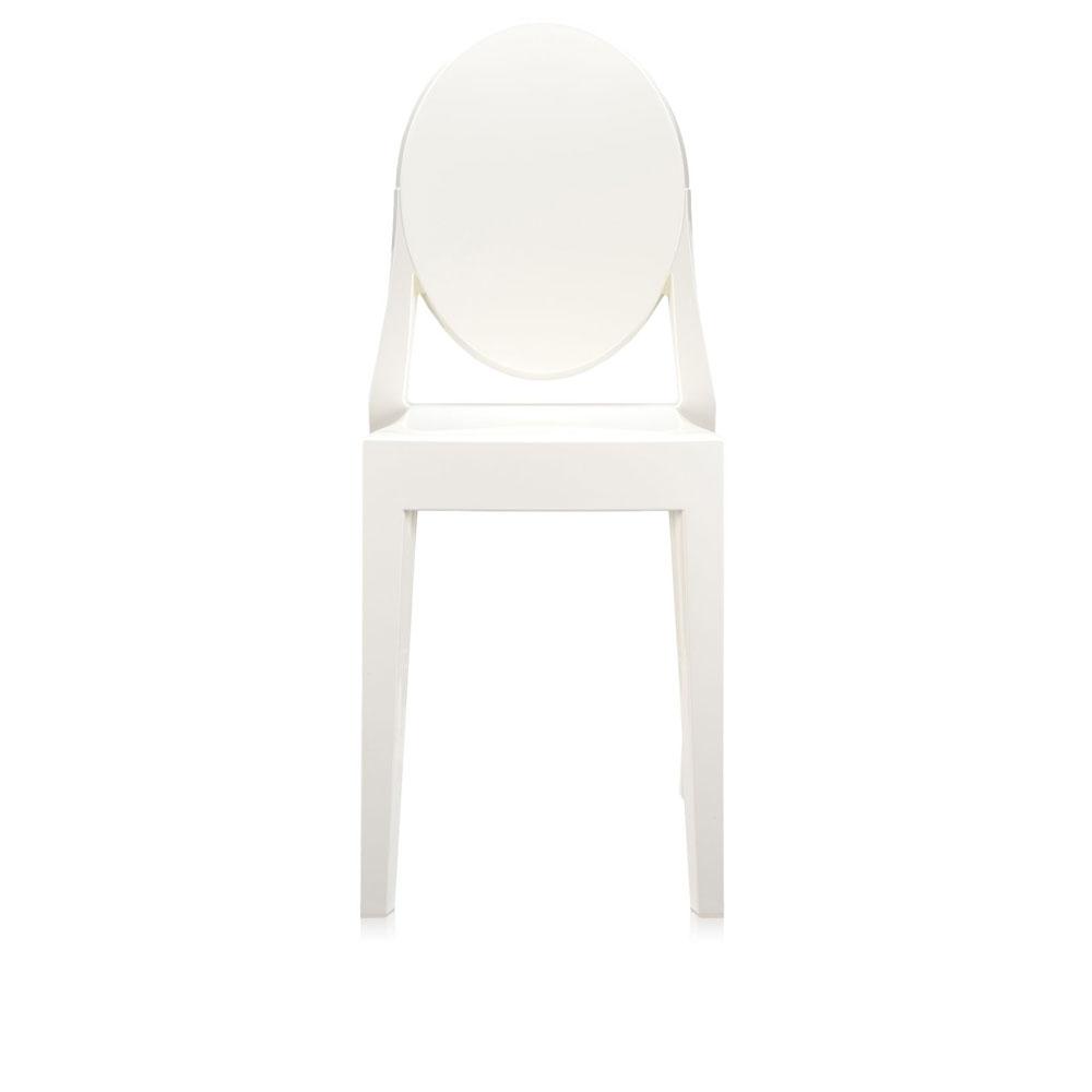 Kartell Kunststoffstuhl Victoria Ghost - weiß - Vorderseite