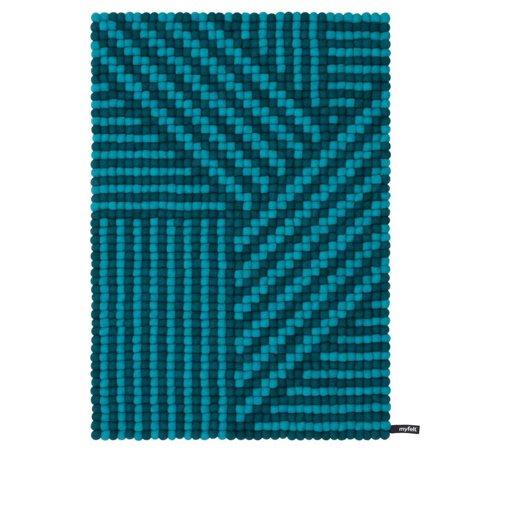 Weave 70x100 cm - Farbe Türkis/ Petrol