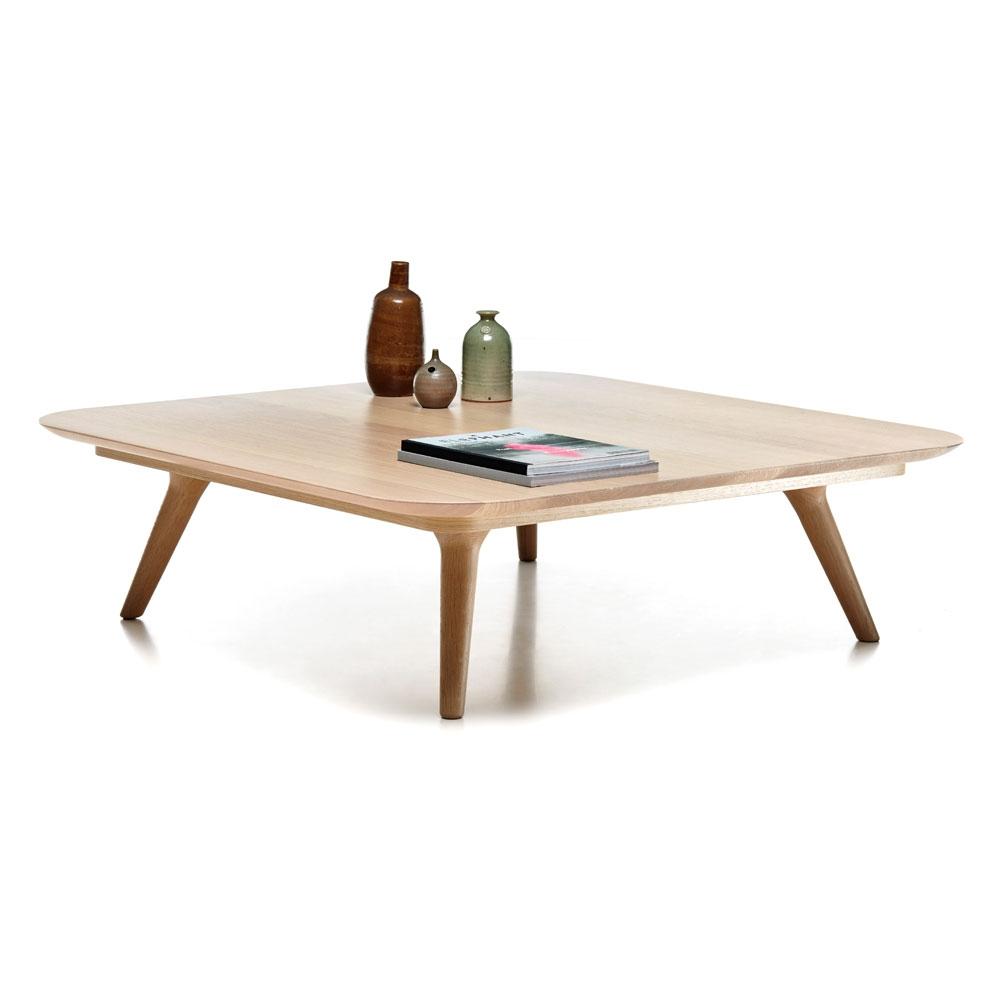 Zio Coffee Table - quadratisch - Farbe weiß gewaschen